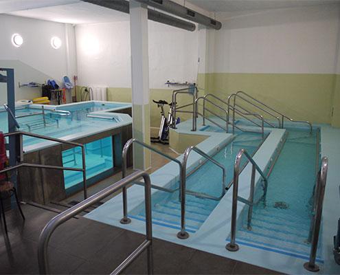 vasca per idrochinesiterapia